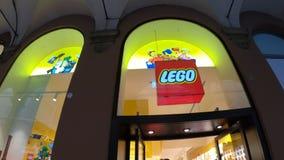 Λογότυπο καταστημάτων Lego απόθεμα βίντεο