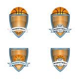 Λογότυπο καλαθοσφαίρισης για την ομάδα και το φλυτζάνι Στοκ Φωτογραφία