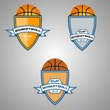 Λογότυπο καλαθοσφαίρισης για την ομάδα και το φλυτζάνι Στοκ Εικόνες