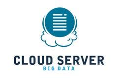 Λογότυπο κεντρικών υπολογιστών σύννεφων Στοκ Εικόνες