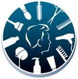 Λογότυπο κομμωτών ελεύθερη απεικόνιση δικαιώματος