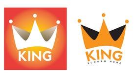 Λογότυπο κορωνών βασιλιάδων Στοκ Εικόνα