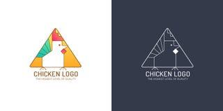 Λογότυπο κοτόπουλου Απεικόνιση αποθεμάτων