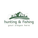 Λογότυπο κυνηγιού και αλιείας Στοκ φωτογραφία με δικαίωμα ελεύθερης χρήσης