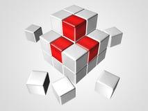 Λογότυπο κύβων Στοκ φωτογραφία με δικαίωμα ελεύθερης χρήσης