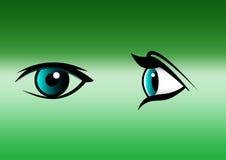 Λογότυπο κλινικών ματιών Στοκ εικόνα με δικαίωμα ελεύθερης χρήσης