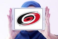 Λογότυπο λεσχών ομάδων χόκεϊ πάγου τυφώνων της Καρολίνας Στοκ φωτογραφίες με δικαίωμα ελεύθερης χρήσης