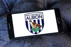 Λογότυπο λεσχών ποδοσφαίρου δυτικού bromwich albion στοκ φωτογραφίες