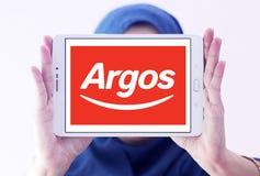 Λογότυπο λιανοπωλητών Argos Στοκ Φωτογραφία