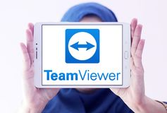 Λογότυπο λογισμικού υπολογιστών TeamViewer Στοκ εικόνα με δικαίωμα ελεύθερης χρήσης