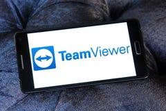 Λογότυπο λογισμικού υπολογιστών TeamViewer Στοκ Φωτογραφίες