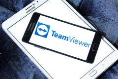 Λογότυπο λογισμικού υπολογιστών TeamViewer Στοκ φωτογραφίες με δικαίωμα ελεύθερης χρήσης