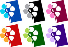 λογότυπο λουλουδιών Στοκ εικόνα με δικαίωμα ελεύθερης χρήσης