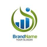 Λογότυπο μάρκετινγκ και χρηματοδότησης Στοκ Εικόνες
