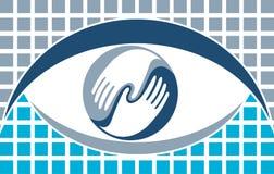 Λογότυπο ματιών Στοκ φωτογραφία με δικαίωμα ελεύθερης χρήσης