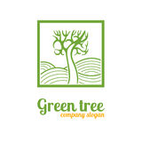 Λογότυπο με ένα δέντρο Στοκ Εικόνα