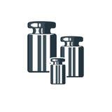Λογότυπο με τα βάρη Στοκ Φωτογραφία