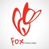 Λογότυπο με την πορτοκαλιά αλεπού Στοκ Εικόνες