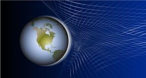 Λογότυπο με τον πλανήτη Στοκ φωτογραφία με δικαίωμα ελεύθερης χρήσης