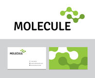 Λογότυπο μορίων Στοκ φωτογραφία με δικαίωμα ελεύθερης χρήσης