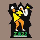 Λογότυπο μουσικών της Jazz Στοκ φωτογραφία με δικαίωμα ελεύθερης χρήσης