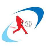 Λογότυπο μπέιζ-μπώλ στοκ φωτογραφία