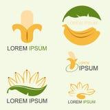 Λογότυπο μπανανών Στοκ Φωτογραφίες