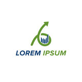 Λογότυπο λογιστικής και επιχειρήσεων Στοκ φωτογραφίες με δικαίωμα ελεύθερης χρήσης