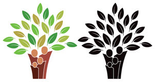 Λογότυπο οικογενειακών δέντρων Στοκ φωτογραφία με δικαίωμα ελεύθερης χρήσης