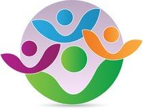 Λογότυπο οικογενειακών ανθρώπων απεικόνιση αποθεμάτων