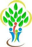 Λογότυπο οικογενειακών δέντρων Στοκ εικόνα με δικαίωμα ελεύθερης χρήσης