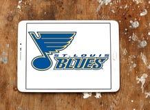 Λογότυπο ομάδων χόκεϊ πάγου μπλε του Σαιντ Λούις Στοκ Εικόνες