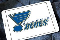 Λογότυπο ομάδων χόκεϊ πάγου μπλε του Σαιντ Λούις Στοκ Φωτογραφίες