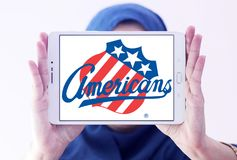 Λογότυπο ομάδων χόκεϊ πάγου του Ρότσεστερ Αμερικανοί Στοκ φωτογραφία με δικαίωμα ελεύθερης χρήσης