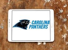 Λογότυπο ομάδων αμερικανικού ποδοσφαίρου των Carolina Panthers Στοκ φωτογραφία με δικαίωμα ελεύθερης χρήσης
