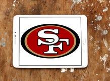 Λογότυπο ομάδων αμερικανικού ποδοσφαίρου των San Francisco 49ers Στοκ Φωτογραφία