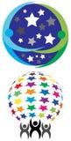 Λογότυπο ομάδων αστεριών ελεύθερη απεικόνιση δικαιώματος