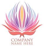 Λογότυπο λουλουδιών Lotus διανυσματική απεικόνιση