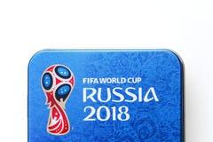 Λογότυπο Παγκόσμιου Κυπέλλου 2018 της Ρωσίας Στοκ Εικόνες