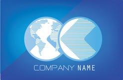 Λογότυπο παγκόσμιων επικοινωνιών Στοκ Εικόνες