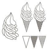 Λογότυπο παγωτού Στοκ Εικόνες