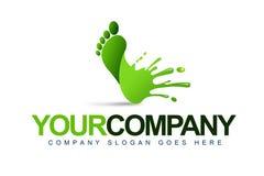 Λογότυπο παφλασμών ποδιών διανυσματική απεικόνιση
