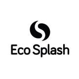 Λογότυπο παφλασμών Ying Yang σταγονίδιων πτώσης νερού Eco Στοκ φωτογραφία με δικαίωμα ελεύθερης χρήσης