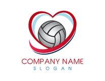 Λογότυπο πετοσφαίρισης αγάπης Στοκ Φωτογραφία