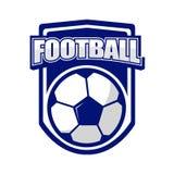 Λογότυπο ποδοσφαίρου για την αθλητική λέσχη απεικόνιση αποθεμάτων