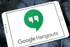 Λογότυπο πολυσύχναστων μερών Google Στοκ Φωτογραφίες