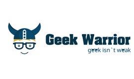 Λογότυπο πολεμιστών Geek Στοκ Εικόνες