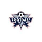 Λογότυπο ποδοσφαίρου για την ομάδα και το φλυτζάνι Στοκ Εικόνες