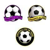 Λογότυπο ποδοσφαίρου για την ομάδα και το φλυτζάνι Στοκ Φωτογραφίες