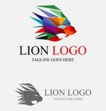 Λογότυπο πολυγώνων βασιλιάδων λιονταριών Στοκ Φωτογραφίες